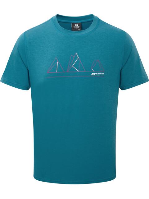 Mountain Equipment Triple Peak Bluzka z krótkim rękawem Mężczyźni niebieski